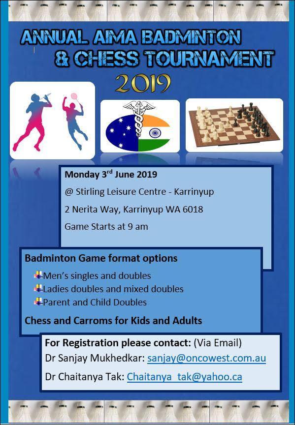 AIMA Annual Badminton & Chess 2019